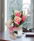 Bear Hugs vase of roses with Bear