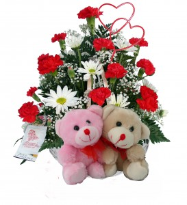 Bear Pair  Basket arrangement