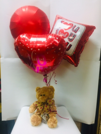 Bear with 3 Balloons & a Truffle