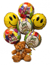 Bear With Balloons Stuffed Bear with Balloons Arrangement