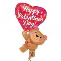 Bear with Mylar Balloon