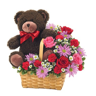 Bearing My Heart Basket Floral Arrangement