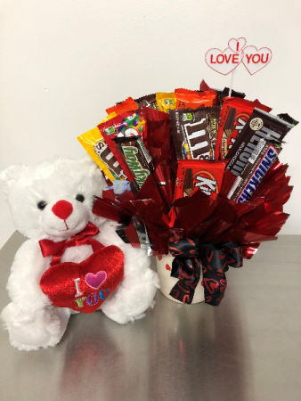 Bearly Enough Ways To Say I Love You! Plush & Candy Bouquet