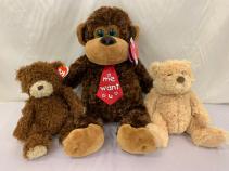 Bears and Monkey Stuffed Animals Gift Items