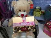 Beary chocolates Bear with Lindt Truffles.