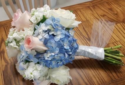 Beautiful And Blue Wedding Bouquet In Orange Beach Al All Island