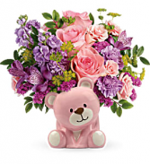 Beautiful Arrival Bear Bouquet T602-6A