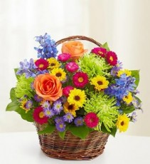 Beautiful Basket Summer Arrangement