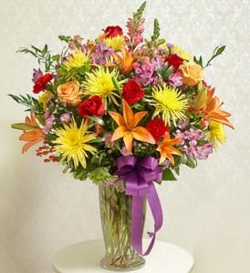 Beautiful Blessings Bright Vase Arrangement everyday
