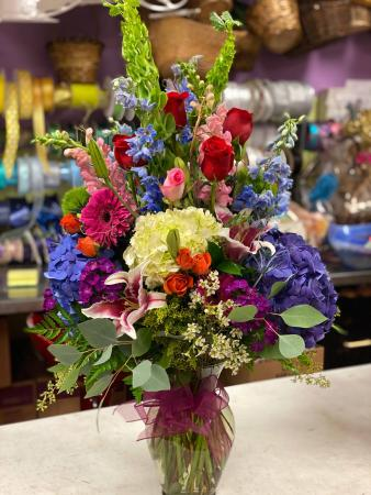 Beautiful Blessings Bright Vase Arrangement assorted flowers