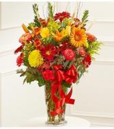 Beautiful Blessings Sympathy Vase - Fall Colors