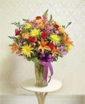 Beautiful Blessings Vase Arrangement - Bright Funeral - Sympathy
