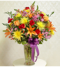 Beautiful Blessings Vase - Bright Sympathy Arrangement