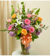 Beautiful Blessings Vase - Pastel Sympathy Arrangement