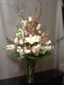 Beautiful Blessings Vase - Pink Sympathy Arrangement