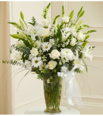 Beautiful Blessings Vase - White Sympathy Arrangement