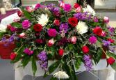 Beautiful Blooms Casket Spray Funeral Flowers