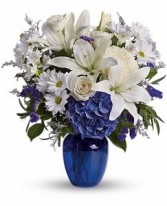 Beautiful Blue Arrangment Fresh flowers