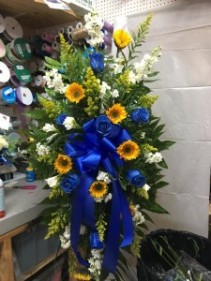 Beautiful Blue Funeral Spray