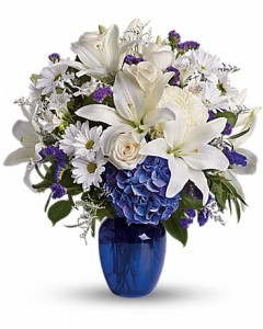 Beautiful Blue Teleflora in Springfield, IL | FLOWERS BY MARY LOU INC