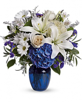 Beautiful Blue Vase Arrangement