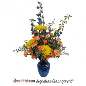 Beautiful Blues Floral Arrangement in Mooresville, IN | BUD AND BLOOM FLORIST AND GIFTS