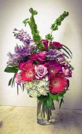 Beautiful Bohemian  Vase Arrangement