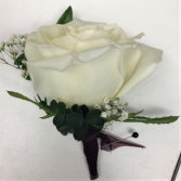 Beautiful Burgundy Boutonniere