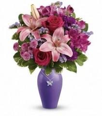 Beautiful Butterfly Keepsake Bouquet