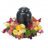 Beautiful Butterfly Surround Urn