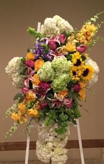 Beautiful Cross Easel Arrangement