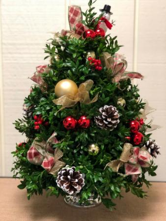 Beautiful Decorated Boxwood Tree Boxwood Tree