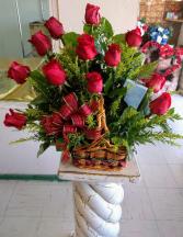 Beautiful Dozen In Basket