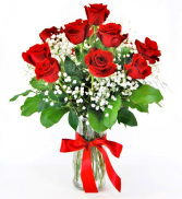 Beautiful Dozen Red Roses Flower Arrangement