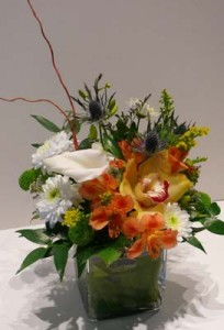 Beautiful Fall Cube arrangement