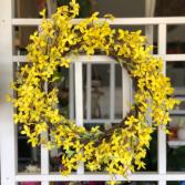 Beautiful Forsythia Silk Floral Wreath