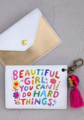 Beautiful girl card holder