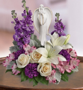 T2 74-3B Beautiful Heart Bouquet Sympathy Arrangement