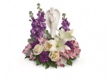 Beautiful Heart Bouquet T249-1A Funeral