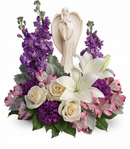 Beautiful Heart Bouquet  T274-3B sculpted angel