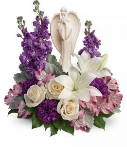 Beautiful Heart Bouquet  T274-3B sculpted angel