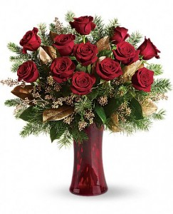 Beautiful Holiday Dozen Roses