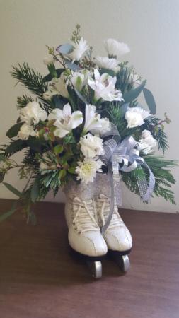 Beautiful ice skates Flower Arrangement