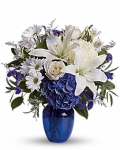 Beautiful in Blue  in Claremont, NH | FLORAL DESIGNS BY LINDA PERRON