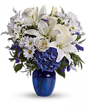 Beautiful in Blue Arrangement in Snellville, GA | SNELLVILLE FLORIST