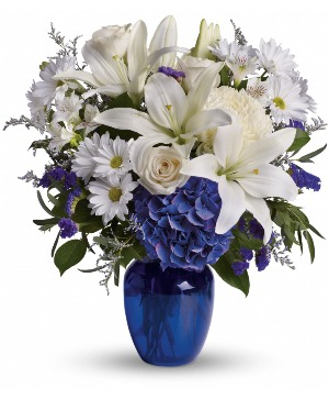 Beautiful in Blue T209-3 in Rossville, GA | Ensign The Florist