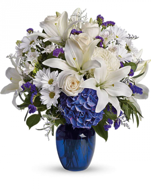 Beautiful in Blue Funeral in East Templeton, MA | Valley Florist & Greenhouse