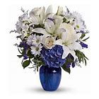 Beautiful In Blue Sympathy Arrangement
