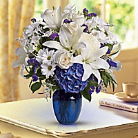 Beautiful in Blue Vase in Vernon, NJ | HIGHLAND FLOWERS