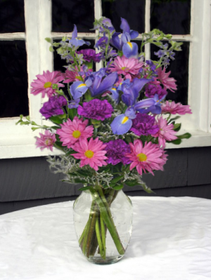 Beautiful in Blue Vase Arrangement in North Adams, MA | MOUNT WILLIAMS GREENHOUSES INC